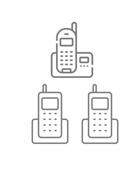 Téléphone duo/trio